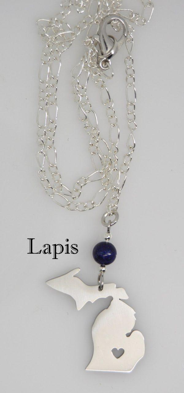 Michigan Necklace Lapis Stone