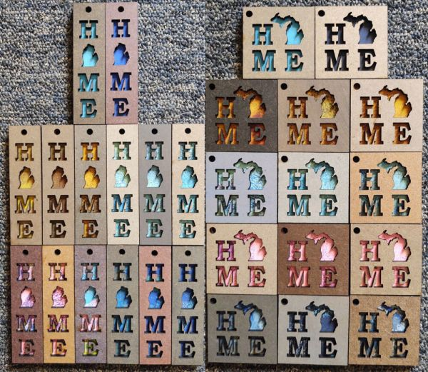 HOME Michigan Layered Wood Keychains