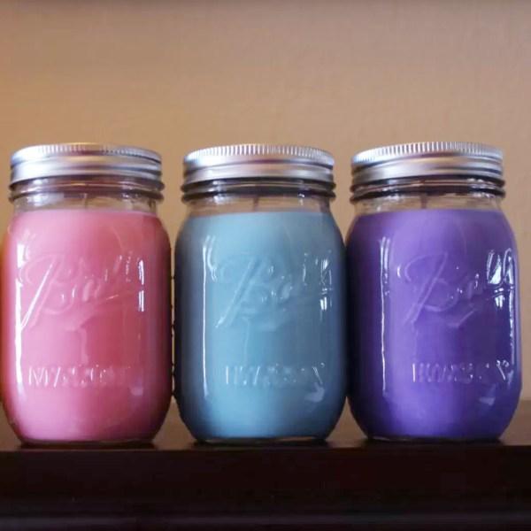Scented Soy Candles 16 oz Mason Jar