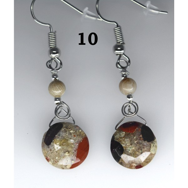 Dangle Pudding Stone Earrings 10