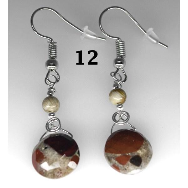 Dangle Pudding Stone Earrings 12
