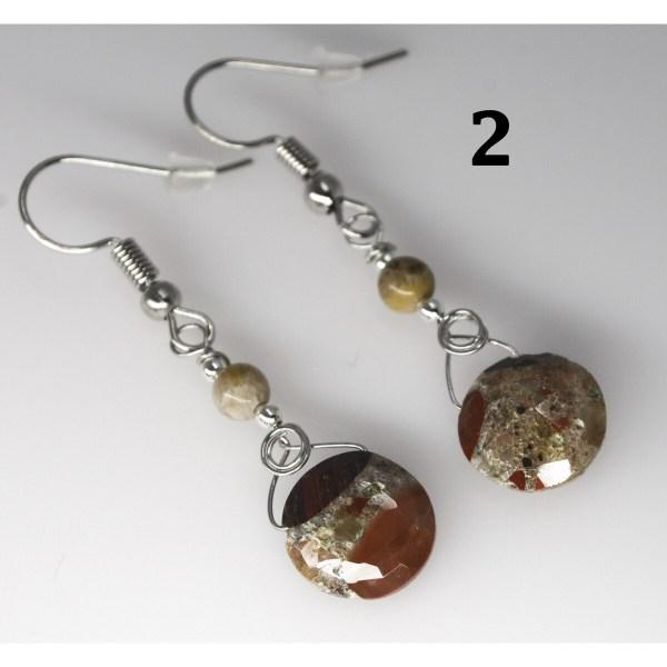 Dangle Pudding Stone Earrings 2