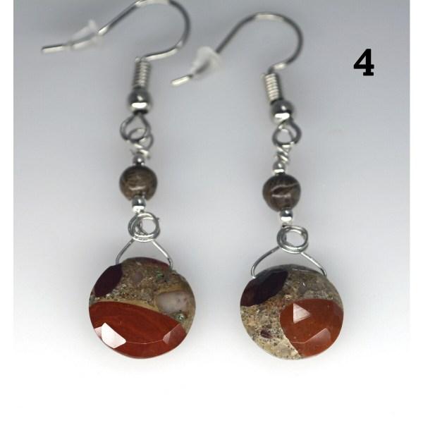 Dangle Pudding Stone Earrings 4