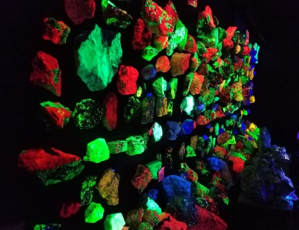 Clement Museum Glow-in-the-dark rock wall