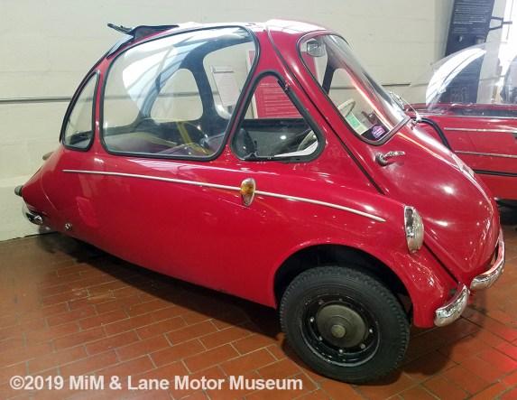 Heinkel microcar with unique front opening door