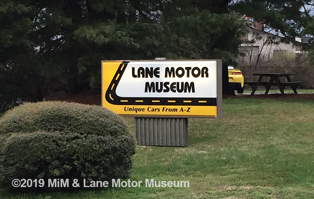 Lane Motor Museum sign