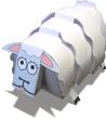 Papercraft imprimible y armable de una oveja / sheep. Manualidades a Raudales.
