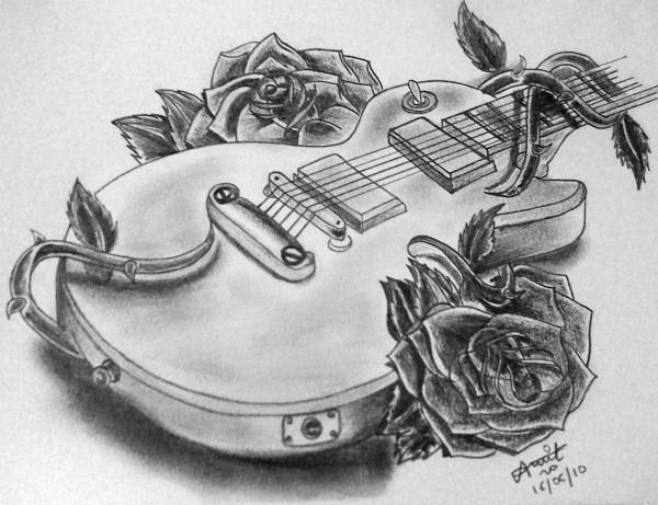 Black White Pencil Drawings Sketchbook