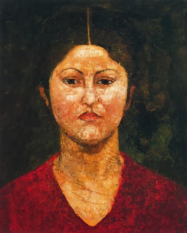 Maillol-Dina à la robe rouge