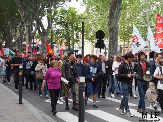 Manifestation contre la loi travail Perpignan 2