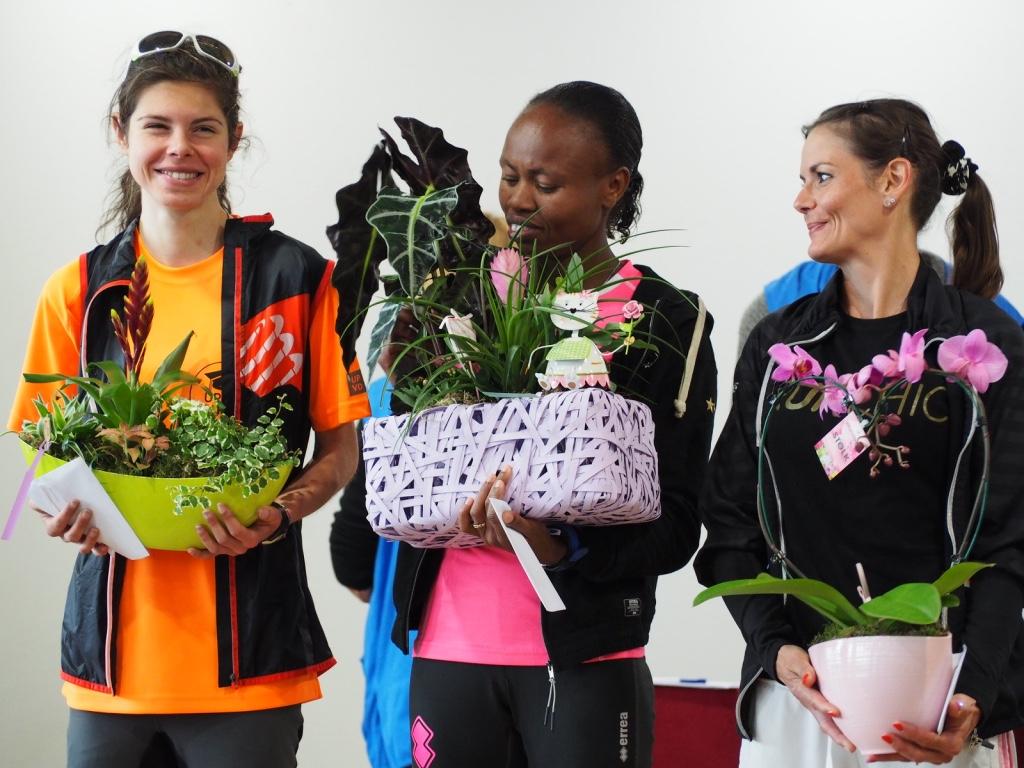 Le podium féminin du 10km