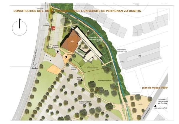 Plan de masse du nouvel Hotel d'incubation