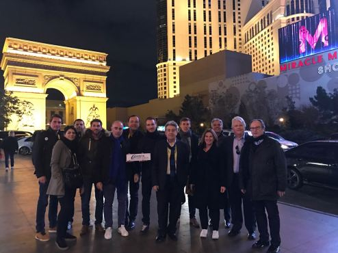 La delegation catalane à Las Vegas
