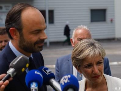 Edouard Philippe dans les Pyrénées Orientales durant la campagne des législatives