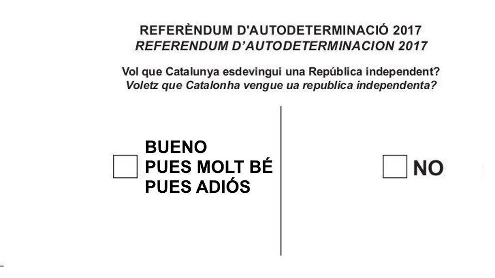 Bulletin de vote référendum