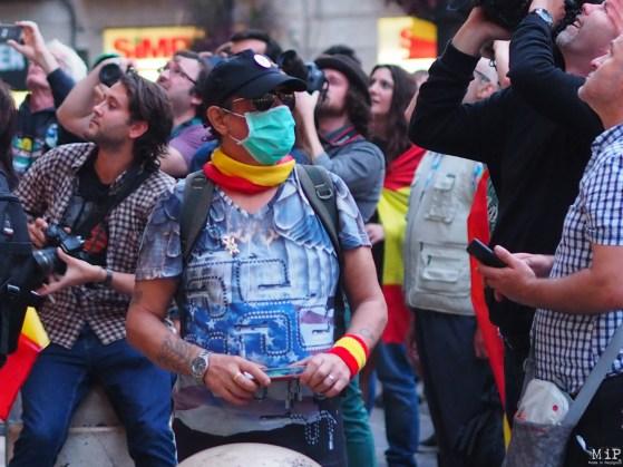 Barcelone - Manifestation des pro Espagne contre le référendum catalan-9300546