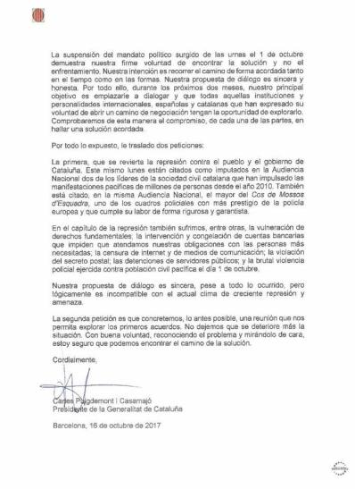 Carles Puigdemont à Mariano Rajoy 2:2