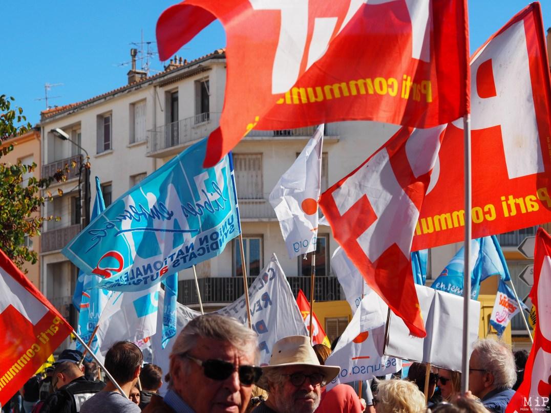 Perpignan - Manifestation grève 5 décembre