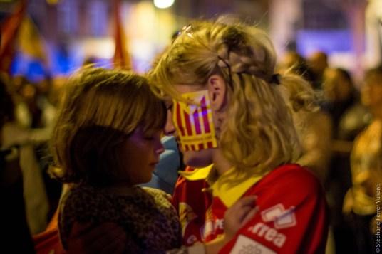 Rassemblement au consulat d'Espagne de Perpignan Référendum Catalogne indépendance