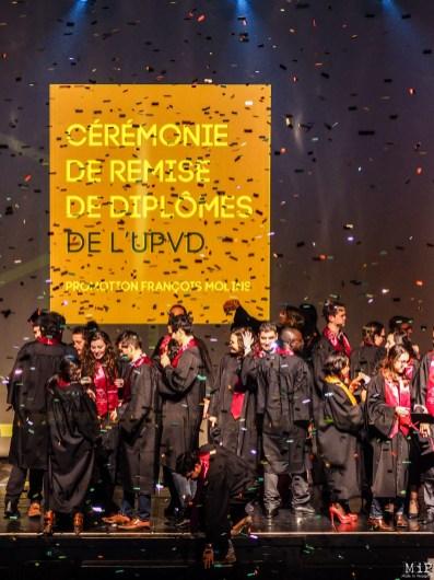 Céremonie de remise des diplomes UPVD - promotion 2017 - Parrain François Molins-240744