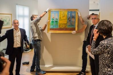 Exposition Raoul Dufy - De gauche à droite - Michel Pinell - Jean-Mars Pujol et Claire Muchir