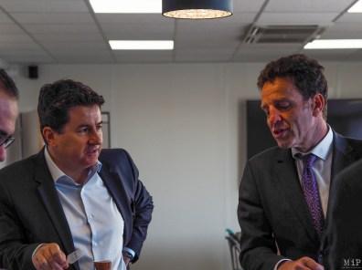 Geoffroy Roux de Bézieux nouveau Président du Medef et Alexis Melidonis