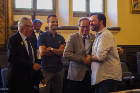 De gauche à droite - Jean-Marc Pujol - Brice Lafontaine - Quim Torra - Eric Forcada