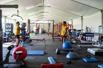 Salle de sport du nouveau centre d'entraînement de l'USAP à Perpignan