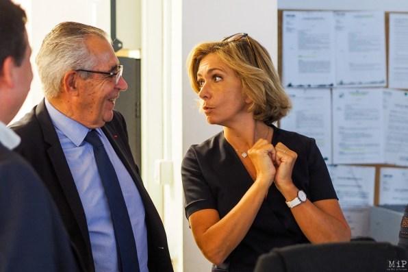 Valerie Pecresse presidente du mouvement Libres en visite à Perpignan