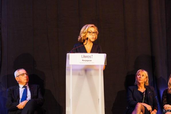 Valerie Pecresse presidente du mouvement Libres entourée de Chantal Gombert et Jean-Marc Pujol