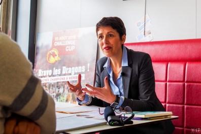 Clotilde Ripoull candidate à la mairie de Perpignan en 2020-11