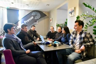 Les journalistes signataires du communiqué du 10 janvier 2019 - Crédit Photo Olivier Got