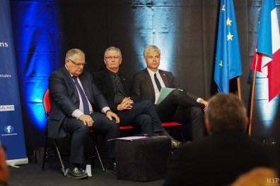 François Calvet sénateur, Bernard Dupont, Maire de Canet et Laurent Wauquiez