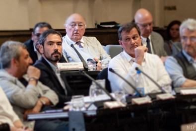 Olivier Amiel et Louis Aliot lors du conseil municipal de Perpignan