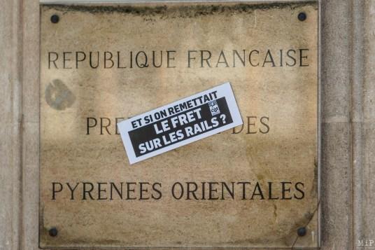 Fret SNCF Train primeurs Perpignan Rungis rassemblement Cheminots