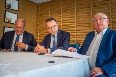 De gauche à droite - Jean Sol, Bruno Retailleau et François Calvet
