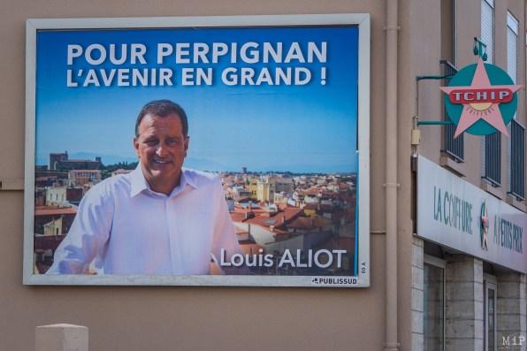 Affiche 4x3 Louis Aliot à Perpignan