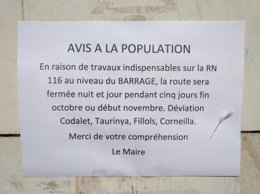 Avis à la population Villefranche-du-Conflent