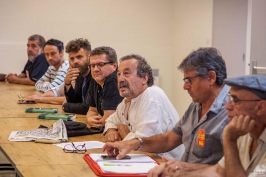 Conférence de presse des syndicats, partis politiques et associations