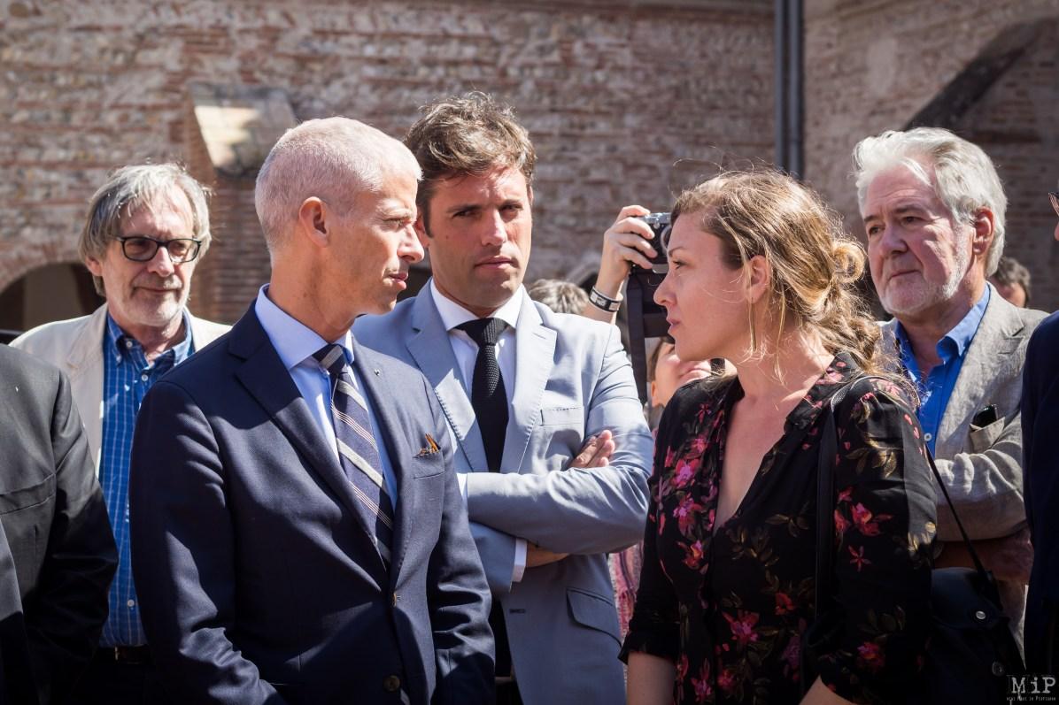 Cazenove en présence de Franck Riester au Festival Visa pour l'Image Perpignan