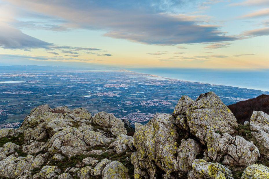 Col de Ouillat Albères frontière France Espagne montagne Escala