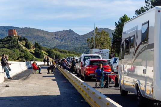 Manifestation indépendantistes catalans blocage autouroute A9 Perthus 11 novembre