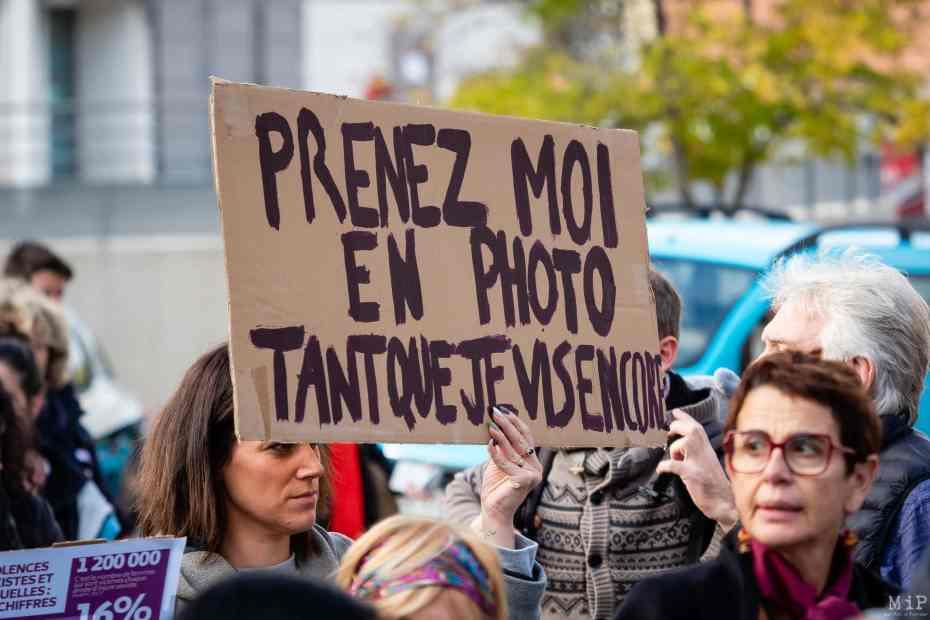 23/11/2019, Perpignan, France, Marche NousToutes violences conjugales et faites aux femmes féminicide © Arnaud Le Vu / MiP