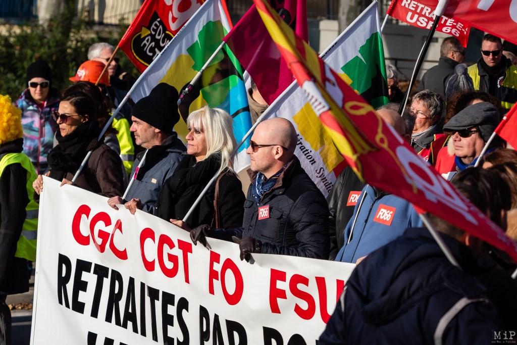 Manifestation contre la réforme des retraites - 10 décembre 2019 à Perpignan