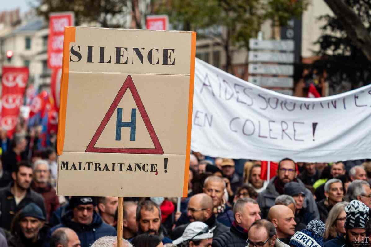 Manifestation grève Retraites 5 décembre syndicats