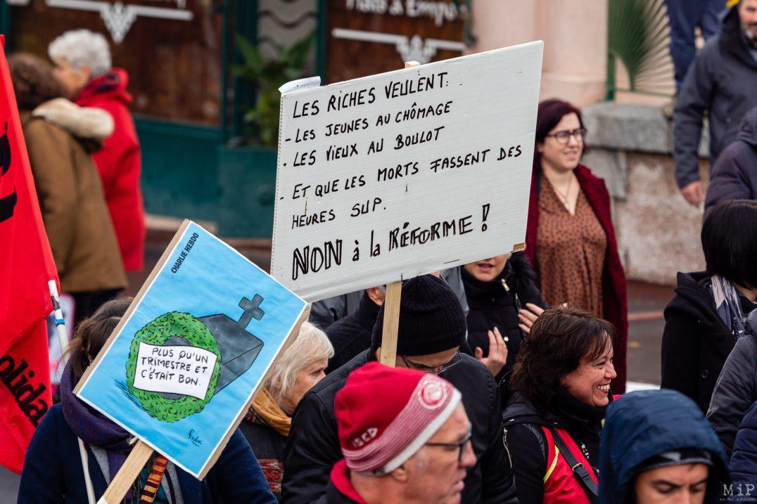 Manifestation grève Retraites 5 décembre syndicats gilets jaunes