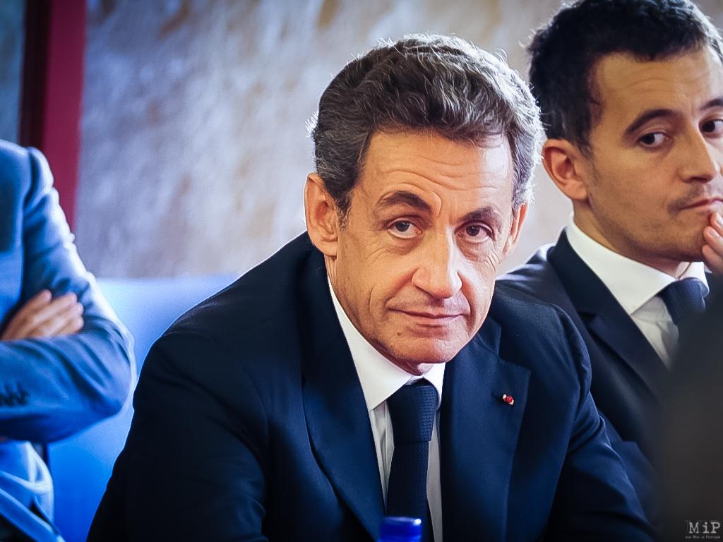 Déplacement Nicolas Sarkozy Gérard Darmanin centre de documentation Algérie française à Perpignan