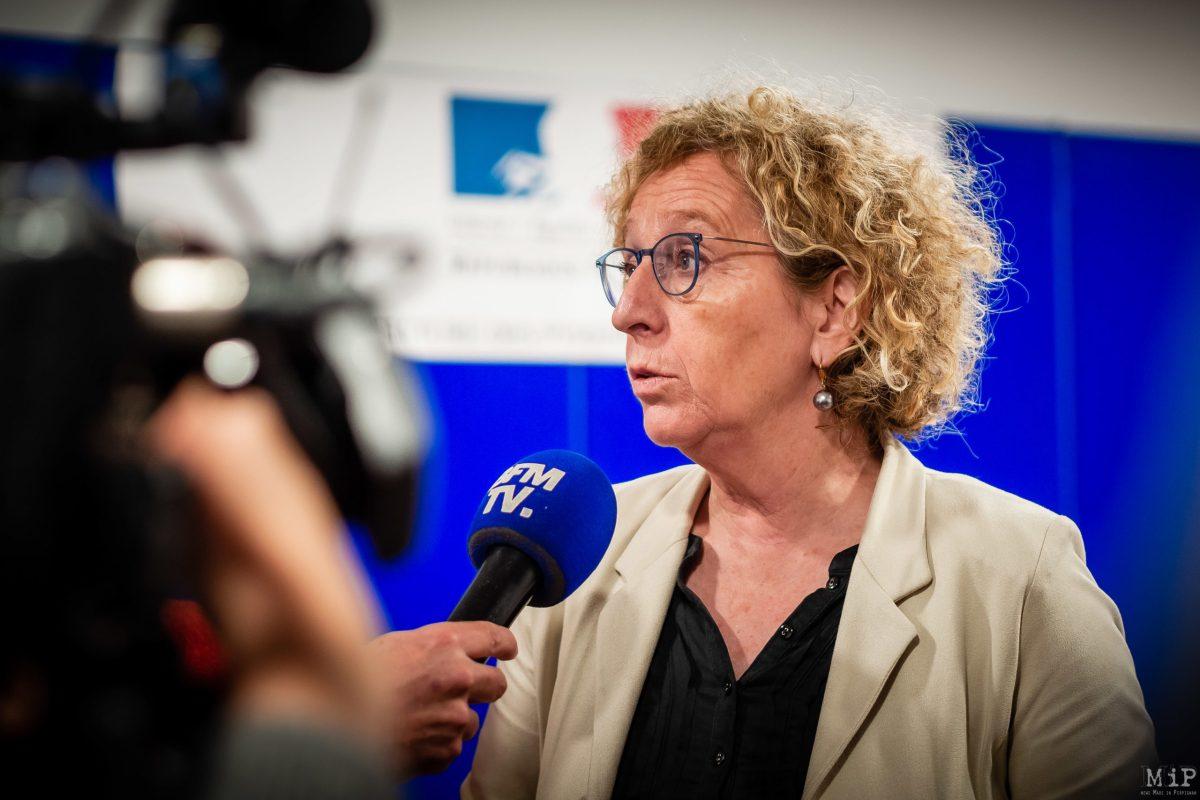 Pénicaud Muriel - Ndiaye Sibeth visite Pyrénées-Orientales ministres