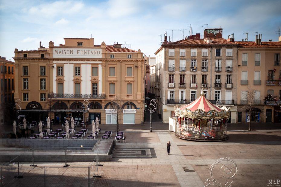 Vue depuis le Théâtre Municipal Perpignan