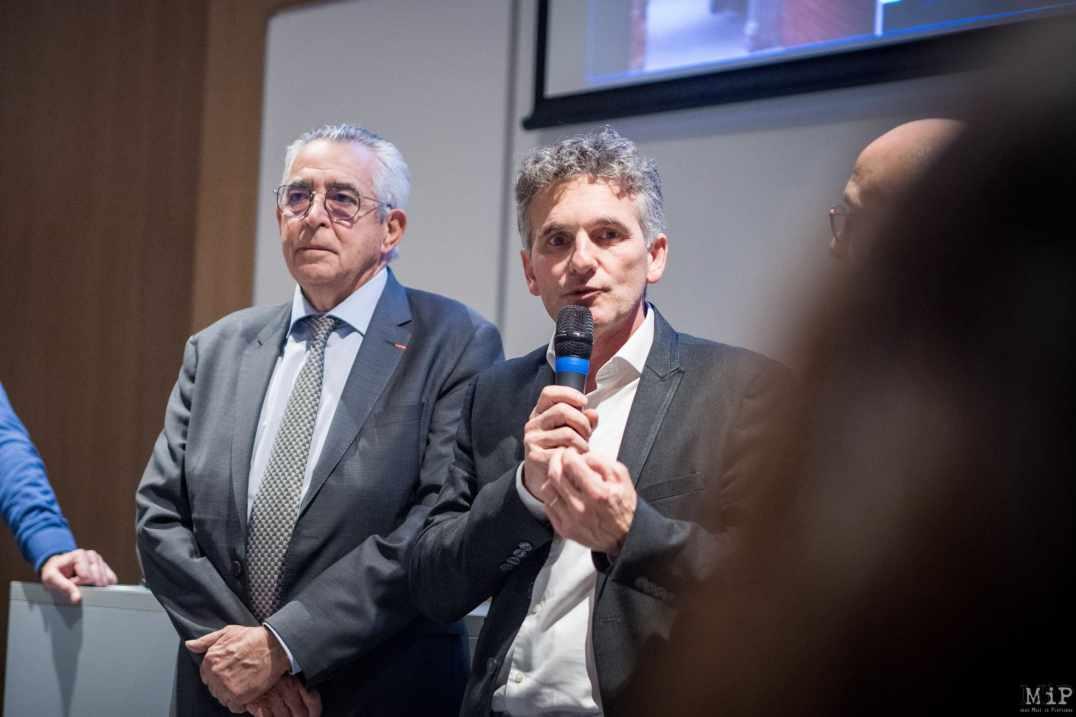 Jean-Marc Pujol et Xavier Py - Lancement phase 2 campus Mailly - 09/01/2020